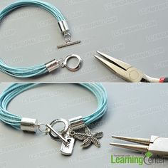 Finish This Simple Waxed Cord Charm Bracelet