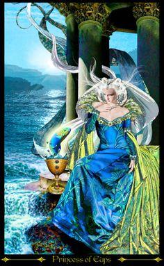 princesse de coupes - Tarot Illuminati par Erik Dunne