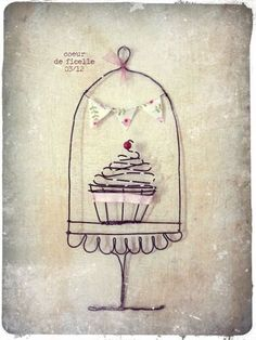 whimsical wire cupcake.....cuteness!...