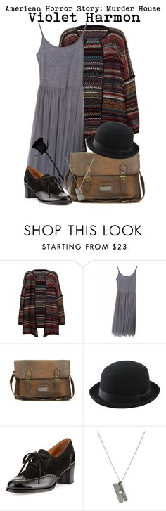 """""""American Horror Story- Violet Harmon"""" by darcy-watson ❤ liked on Polyvore featuring Leon & Harper, Topshop, ASOS, Uniqlo and Gravati"""