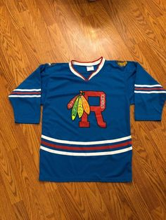 50fc2cbf7 Rockford IceHogs Blackhawks Youth Minor League Hockey Jersey Size XL  Alternative
