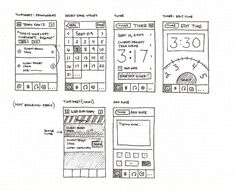 A Selection of Mobile UI Wireframe Sketches Wireframe Design, Interface Design, User Interface, App Wireframe, Website Wireframe, Web Design, Sketch Design, Game Design, Ui Design Inspiration