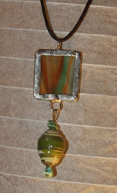 Stained Glass Pendant by 2glassygirls on Etsy, $24.00