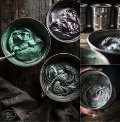 Wild Berry Pound Cake with Mascarpone Yogurt Creme Recipe | www.littlerustedladle.com |  #foodphotography #foodstyling #cake