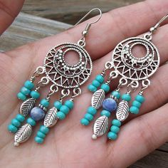 Southwestern Winds  Beaded Chandelier Boho Earrings by Angelof2, $20.00