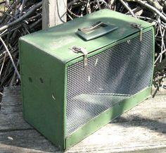 Celadon Green Retro Pet Carrier by vintagous on Etsy, $39.00