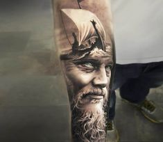 King Ragnar tattoo by Arlo Tattoos
