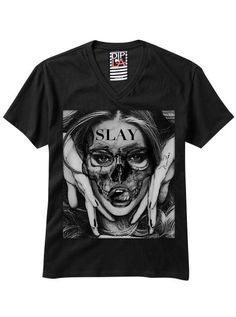 """Women's """"Slayer"""" Tee by Dip In Lively Apparel (Black) #InkedShop #womens #graphictee #slayer"""