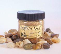 50 Beach Bridal Shower Favors - BRINY BAY Mini Sugar Scrub Favors - Rustic Beach Theme Bridal Shower Party Favors - New England Clambake. $150.00, via Etsy.