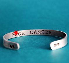 Fck Cancer Bracelet Cancer Awareness Fuck Cancer by neonbison