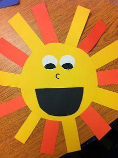 weather unit...cute sun and cloud craft