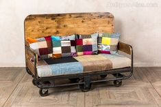 Industrial Furniture Moves Into Chic Decor – Industrial Decor Furniture, Store Decor, Industrial Decor, Recycling, Diy Couch, Sofa, Reclaimed Furniture, Salvaged Decor, Recycled Furniture