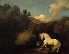George Stubbs's A Horse Frightened by a Lion.
