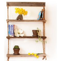 Barn wood shelf ~  Rustic Display And Wall Shelves  by Grindstone Design
