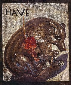 Roman mosaic from the House of the Bear (VII 2, 45) in Pompeii