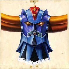 五字頭耗子的玩具觀察: 超級機器人繪師第一人:岡崎甫雄 (Hajime Okazaki)