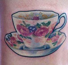 Tea for the vintage soul. | 30 Utterly Lovely Tattoos For Tea Lovers