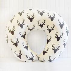 Deer Head Boppy Pillow Cover, Deer Boppy Cover