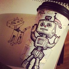 recycle coffee cup art - Google Search