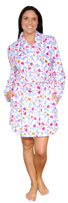 Snoozies Women's Printed Fleece Robes