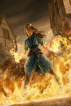 Rpg Character Art Female sorcerer cunjuring fire /wizard or mage taking fireball to extreme powerful woman RPG character inspiration / scary antagonist Fantasy Story, Fantasy Rpg, Medieval Fantasy, Fantasy Artwork, Fantasy World, Fantasy Love, Dnd Characters, Fantasy Characters, Female Characters