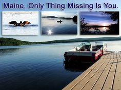 maine lake scene photo
