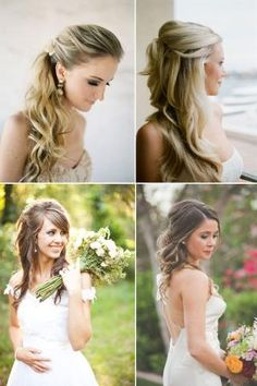 Wedding hair, half up half down, updo
