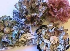 newspaper corsages