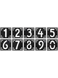 Arts Crafts House Number Tiles 5 Height Arts And Crafts House Home Crafts Arts And Crafts Kits