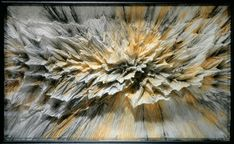 Vincent Floderer (French), Boom!, 2000, Wenzhou calligraphy paper, watercolor, Indian ink on wood frame with glass