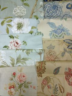 Colefax & Fowler fabrics with a few Cowtan & Tout thrown in!