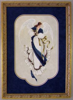 Lavender and Lace Angel of Hope Cross Stitch