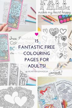 15 Fantastic Free Colouring Pages for Adults