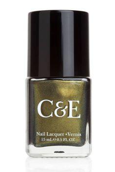 Do any earthy-glam mani with Crabtree & Evelyn's new polish in Avocado #nailpolish