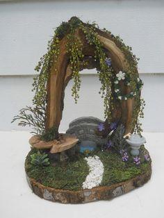 OOAK Fairy Garden Display Fairy House by FlowersandFrills on Etsy