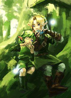 Link and Saria - The Legend of Zelda