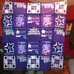 Like to quilt? Save your Relay shirts and make a quilt when you have completed your quilt celebrate 25 years of having participated in Relay! You can also take the project and turn it into a fundraiser by asking you ACS staff partner for old shirts and auctioning off the quilt at the event.