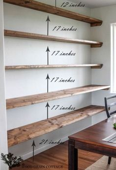 Install wall-to-wall shelving in a dining room. 42 Cheap And Easy Home Upgrades That Will Make Your Home Look More Expensive Install wall-to-wall shelving in a dining room. 42 Cheap And Easy Home Upgrades That Will Make Your Home Look More Expensive Organization Ideas For The Home Diy, Organizing Tips, Easy Home Upgrades, Regal Bad, Diy Bathroom, Bathroom Storage, Bathroom Shelves, Bedroom Shelving, Remodel Bathroom