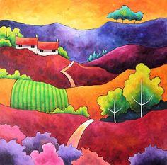 Heather Wine. Acrylic on canvas. Sold.