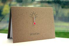 Handgemachte Get Well Card / / Get Well Soon von LittleSilverleaf