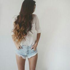 I would love my hair this way! Love Hair, Gorgeous Hair, Down Hairstyles, Pretty Hairstyles, Auburn, Blond, Let Your Hair Down, Dream Hair, Ombre Hair