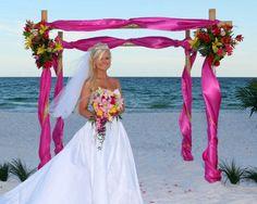 Beach Wedding Arbor Decor Package by SandsationalWeddings on Etsy, $175.00