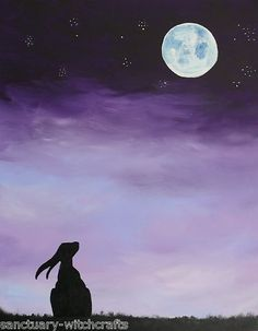 Moon Gazing Hare by Karen Bluebell Simpson