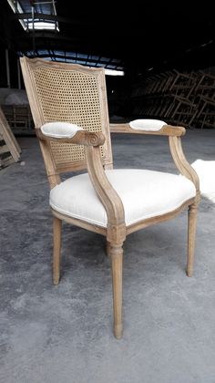 french style square back dining chair with arm