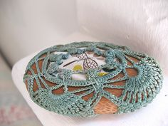 Crochet mixed textile art   ... Unique Examples of Crochet Covered Stone Art — Crochet Concupiscence