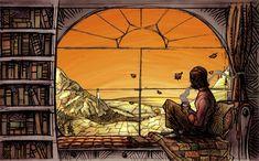 the window seat by Bittercarrot.deviantart.com on @DeviantArt