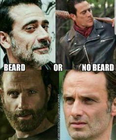 Beard! Always beard! Or a little scruff The Walking Dead TWD