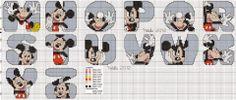 Alfabeto de Mickey para punto de cruz.