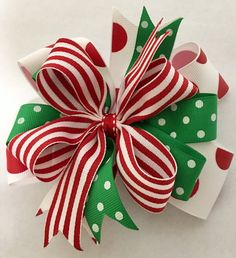 Sassy Christmas Hair Bow Christmas Bow by ThePalmettoBaby on Etsy