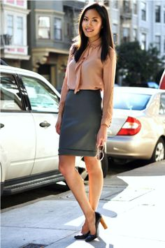 Blouse: Zara Pencil Skirt: Prada Heels: YSL 9to5chic